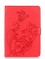 Pour Porte Carte Autre Coque Coque Intégrale Coque Fleur Flexible Cuir PU pour Apple iPad Mini 3/2/1