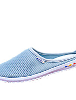 Women's Clogs & Mules Spring / Summer Round Toe Tulle Outdoor / Casual Flat Heel Others Blue / Pink / Gray