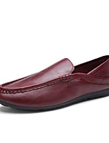 Men's Shoes PU Casual Flats Casual Walking Flat Heel Others Black / Brown / Burgundy