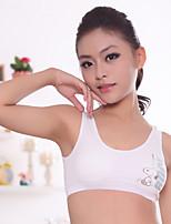 XLY Development Puberty Teenagers Girl's Comfortable Cotton Wireless Sports Bra Underwear. Item. Thin Cup Bra.Code 688