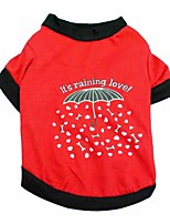 Chat / Chien T-shirt Rouge / Rouge Rose Printemps/Automne Floral / Botanique Mode, Dog Clothes / Dog Clothing-Pething®