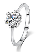 Classical Temperament Shiny Crystal Engagement Ring