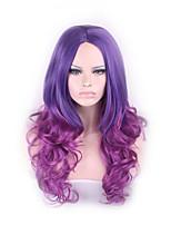 longas cosplay ondulado mulheres despedida centrais encaracolados perucas 65 centímetros de moda a luz do presente peruca de cabelo menina
