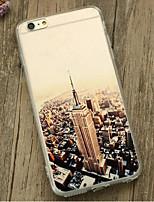 indietro Resistente agli urti Vista della città TPU Morbido Shockproof Copertura di caso per Apple iPhone 6s Plus/6 Plus / iPhone 6s/6