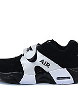 Men's Spring / Fall Leather Athletic Flat Heel Others Black Sneaker