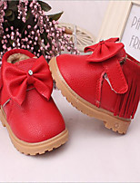 Girl's Flats / Boots Winter Comfort PU Casual Flat Heel Others Red