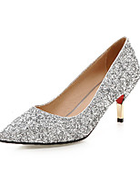 Women's Shoes  / Fall Heels Heels Outdoor / Office & Career / Casual Stiletto Heel Sequin / Sparkling Glitter&9-10