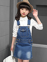 Girl's Casual/Daily Solid Dress / Jeans,Rayon Spring / Fall Blue