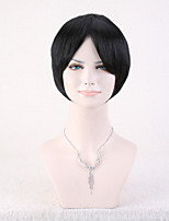 Capless Black Color High Quality Short Straight Synthetic Wig