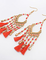 Earring Geometric Drop Earrings Jewelry Women Tassels / Fashion / Bohemia Style Daily / Casual Alloy / Resin 1 pairBlack / White / Red /