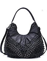 Women-Formal-PVC-Shoulder Bag-Black