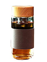 High-grade Thickened Glass Bottle with Tea Septum (Random Colors)