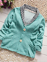 Girl's Casual/Daily Patchwork Suit & Blazer,Cotton Summer Blue / Green / Red / Gray