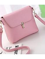 Women PU Casual Shoulder Bag Pink / Gray / Black