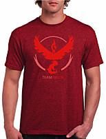 Inspirado por Pocket Monster Pequeño monstruo Vídeo Juego Disfraces Cosplay Cosplay de la camiseta Geométrico / Estampado Rojo Manga Corta