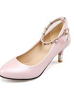 Women's Shoes PU Summer/ Pointed Toe Heels Office & Career / Casual Stiletto Heel Buckle Blue / Pink / White