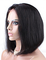 CARA 6A Silky Straight Short Human Hair Bob Wigs For Black Women Bob Wig Lace Front Human Hair Wigs
