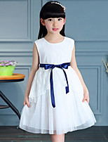 Girl's Cotton Summer Fashion Sleeveless Lace Princess Dress