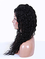 Fashion Young Girls Lace Wigs Unprocessed Human Hair Lace Front Wig Natural Color Curly Wigs