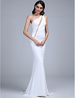 TS Couture® Formal Evening Dress Trumpet / Mermaid One Shoulder Sweep / Brush Train Jersey with