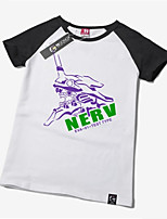 Inspired by Neon Genesis Evangelion Ayanami Rei Anime Cosplay Costumes Cosplay Tops/Bottoms Print White Short Sleeve T-shirt