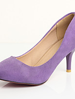 Women's Shoes Stiletto Heel Basic Pump / Pointed Toe Heels Party & Evening / Dress Blue / Purple / Red