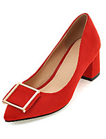 Women's Shoes Spring  / Fall Heels Heels Outdoor / Office & Career / Casual Chunky Heel Others Black / Red &9-80