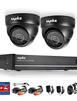 SANNCE® 4CH Full 960H CCTV DVR Video Surveillance Recorder 800TVL Dome Cameras CCTV System