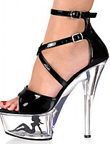 Women's Shoes Patent Leather Spring/Summer/Peep Toe/Platform Heels Wedding / Outdoor/Party & Evening Stiletto Heel