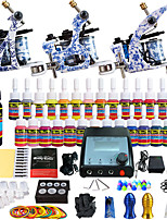 Solong Tattoo Beginner Tattoo Kit 3 Pro Machine Guns Power Supply Needle Grips Tips US Dispatch
