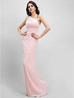 TS Couture® Formal Evening Dress Sheath / Column Straps Floor-length Chiffon with Side Draping