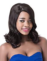 européen perruque courte partie vogue sythetic vague noir pour les femmes