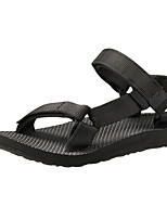 Women's ShoesFall Flats Sandals Outdoor / Athletic Flat Heel Magic Tape / Braided Strap Black