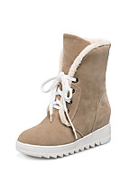 Women's Boots Fall / Winter Snow Boots Dress Wedge Heel Others Black / Yellow / Gray / Camel Snow Boots