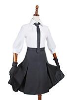 Ispirato da Altro Altro anime Costumi Cosplay Abiti Cosplay Tinta unita Camicia / Gonna / Cravatta / Guanti / Altri accessori