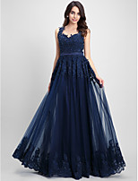 TS Couture® Formal Evening Dress A-line Sweetheart Floor-length Tulle with Appliques