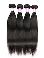 10A Brazilian Virgin Hair Straight 4 Bundles Human Hair Extension  Brazilian Natural Straight Hair Weave Bundles