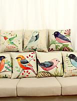 Decorative Pillow Case Cotton Magpie Pattern