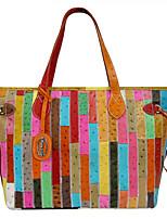 Kate&Co. fashion leather ladies bags color ostrich colorful mosaic shoulder stripe mosaic BC-00072