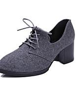 Women's Shoes Fleece Summer Heels Heels Casual Chunky Heel Others Black / Gray