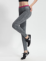 Running Bottoms / Pants / Tights Women's Quick Dry / Compression / Lightweight Materials / Sweat-wicking / Stretch Nylon / ElastaneYoga /
