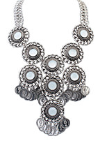 European Fashion Circle Coin Vintage Alloy Necklace Choker Necklaces / Statement Necklaces Daily 1pc