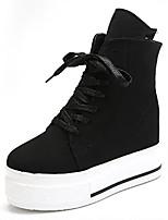 scarpe di tela delle donne è aumentato rampicanti / comodità / rotondo scarpe da ginnastica di moda della piattaforma della punta esterna