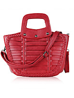 Women-Formal / Office & Career-Cowhide-Tote-Blue / Red / Black