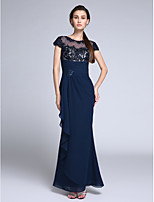TS Couture®Formal Evening Dress Trumpet / Mermaid Jewel Floor-length Chiffon with Appliques / Crystal Detailing