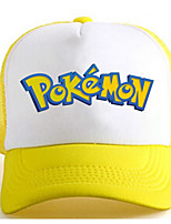 Sombrero/Gorra Pocket Monster Ash Ketchum Animé Accesorios Cosplay Blanco / Amarillo Charmeuse