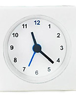 1pc Simple Style Mini Alarm Clock Square Shape Bedside Study Room Table Clocks VACKIS White