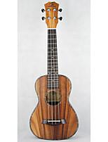 kleine gitaar bruine barsten snaar muziekinstrument geval