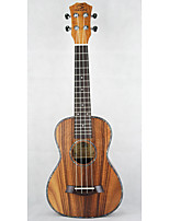 liten gitar brun brast streng musikkinstrument saken