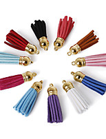 Beadia 10 Pcs Fashion 3.5cm Faux Suede Tassel Pendants